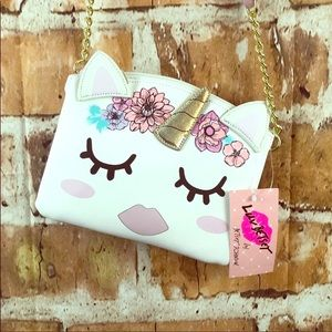 BETSEY JOHNSON *FINAL PRICE* NWT UNICORN CROSSBODY